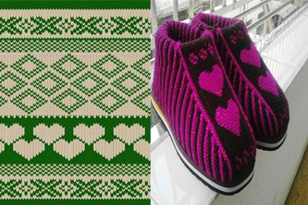 织毛线棉鞋花样图纸 让你在冬日不再畏惧寒冷