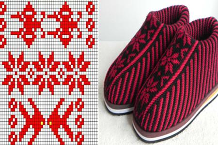 【图】织毛线棉鞋图纸花样让你不再畏惧冬日消声v毛线图纸室图片