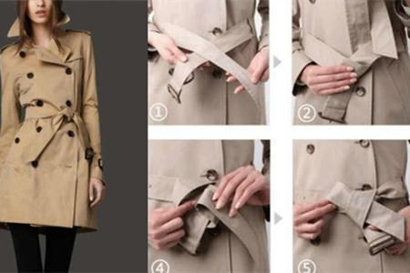大衣腰带的系法图解 带你玩出新花样