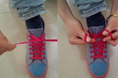 鞋带蝴蝶结的系法图解 简单易学的方法轻松get