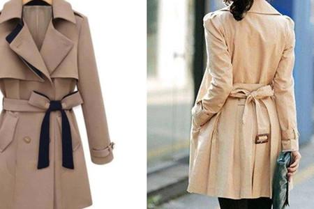 时尚毛呢大衣带子系法 打造精美造型不可缺少的步骤介绍