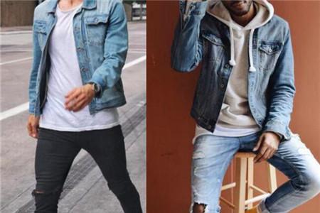 男生牛仔外套搭配什么裤子 图片合集