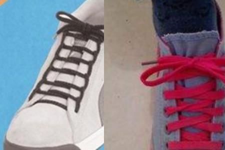 鞋带蝴蝶结的打法 教你3个步骤