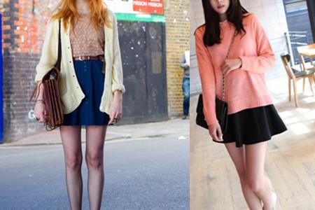 短款针织衫搭配 选择这几种裙子很潮流