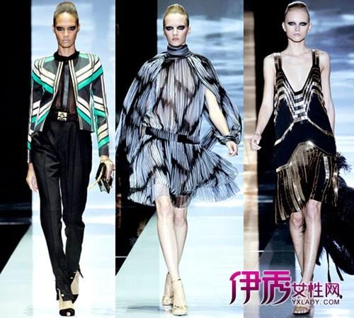 米兰/【图】2012春夏米兰时装周Gucci女装秀