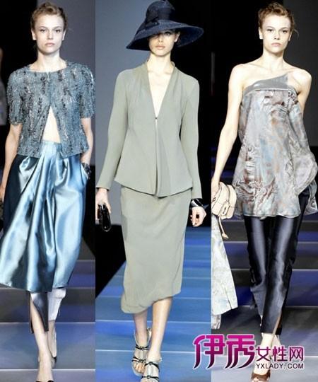 米兰/【图】2012春夏米兰时装周Giorgio Armani女装秀