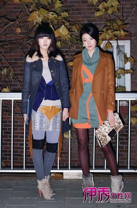 街拍服装搭配韩国街拍长腿美女