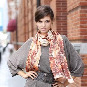 时尚长丝巾的系法图解与搭配方法
