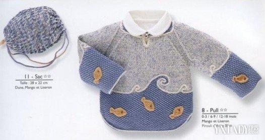 【图】秋冬0-1岁婴儿毛衣编织图解大全 婴幼儿毛衣编织