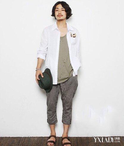 【图】时尚服装搭配 小胡子男示范日系小清新图片