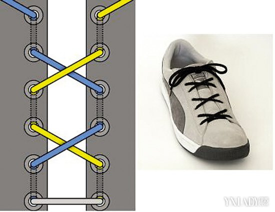 多种隐藏鞋带的系法图解 手把手教会你怎么把鞋带隐藏