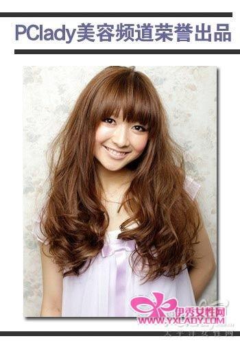卷发型图片_小卷发型_韩国女生长发大卷发型图片