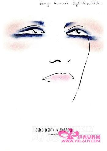 红唇女人手绘图片