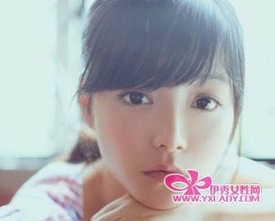 斜刘海发型图片女_斜刘海发型图片