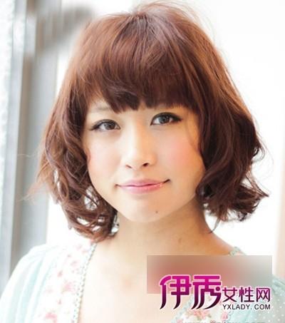 日本圆脸发型短发美女发型【图】(4)_流行氧气男生烫发懒羊羊图片