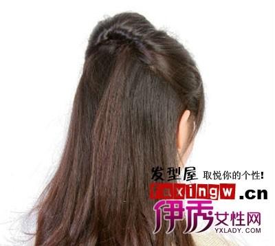 中长发简单盘发发型扎发图解(五) 扎头发网