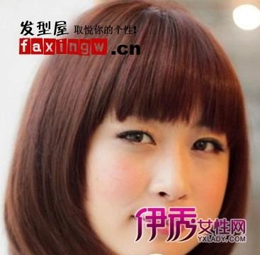 圆脸女生短发发型设计 打造清新氧气美女