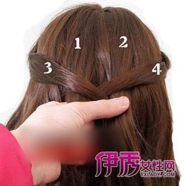 中长发马尾发型扎法步骤 简单的图片