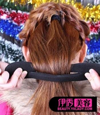 教你清新蜈蚣辫盘发 新年短发怎图片