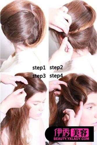 怎样梳头发好看视频 长发梳头发型(19)_DIY发