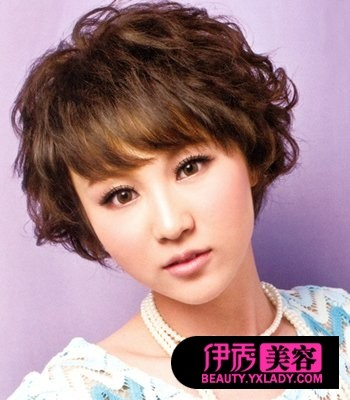 2014中短发烫发女发型,女短发型烫发图片,短烫发发型图片
