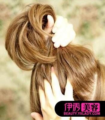 长头发怎么扎花苞头 ol发型图片