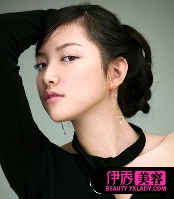 v女生年韩式女生大全跳舞盘头发图片中儿童短发短发图片