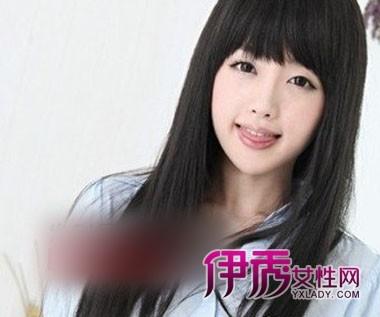 非主流直发刘海发型图片 打造俏丽可爱图片
