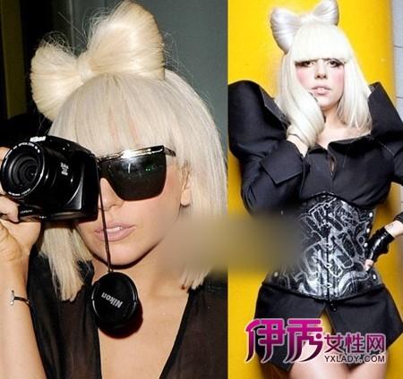 lady gaga蝴蝶结发型打造步骤图片详解