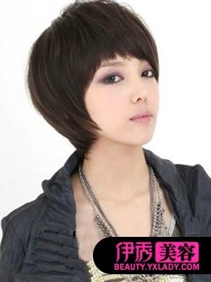 中韩女明星发型短发秀出你的发型(17)_流行发颜色染什么女生的头发显白图片