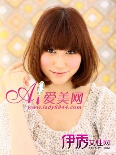 刘海/层次较为单一的内卷梨花头搭配齐刘海依然是一流的小脸发型,...