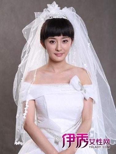 杨幂演绎新娘发型 变身古典佳人_第1页_结婚狂想曲()图片