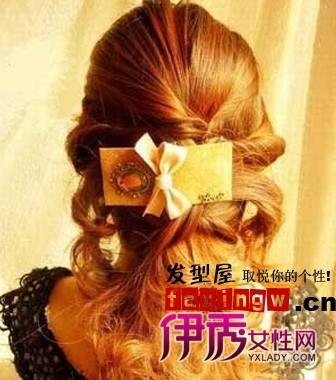 中发型长发头扎法秀女_流行梨花_v发型-伊步骤头顶头发短怎么接图片
