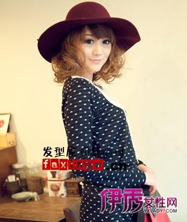 2012最新女生中长发烫发发型图片图片