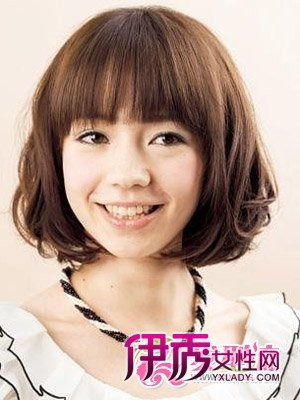 大圆脸发型设计图片 女生短发