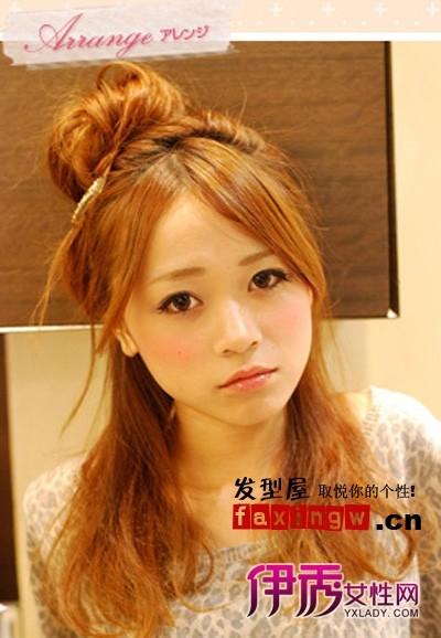 日系中分梨花烫 秋季发型时尚秀图片