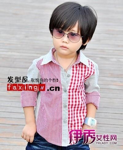 可爱男儿童至酷的发型图片