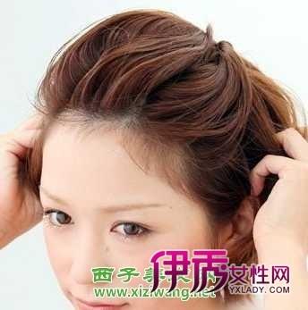 最新中短发发型扎法图解