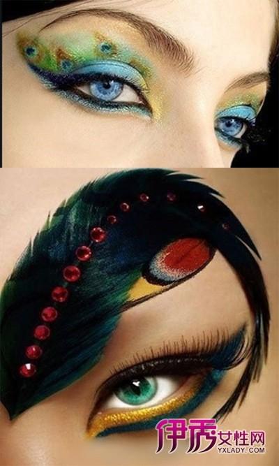 孔雀眼妆步骤图片