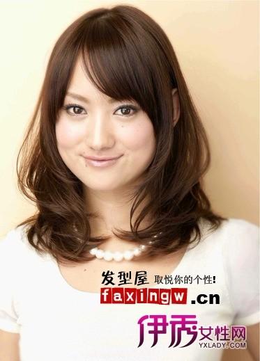 发型 流行发型 正文  宽脸适合什么发型 发型 女生 脸颊 修饰脸型图片