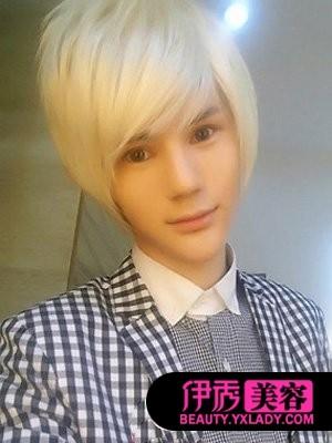 男生斜刘海发型图片图片
