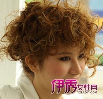 女士短发纹理烫发型图图片图片