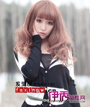 女生长发烫发种类发型图片图片