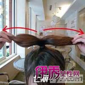韩式花苞教程头扎法打造广告图解可爱减龄发林依晨剪丸子短发图片