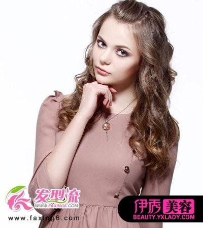 无刘海烫发发型-轻熟女中长发烫发 尽显夏日优雅气质