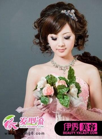 马尾新娘发型图片 突显迷人青春_发型设计图片