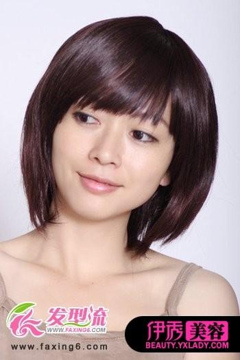 佳修颜短发 圆脸适合的短发发型图片