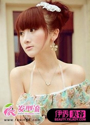 日系女生盘发发型 彰显非凡魅力图片