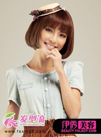 a夏日夏日发型设计打造轻盈发型梳短发法图片