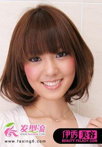 齐刘海短发发型 齐刘海发型图片女 齐刘海发型图片女长-推鬓角齐刘图片